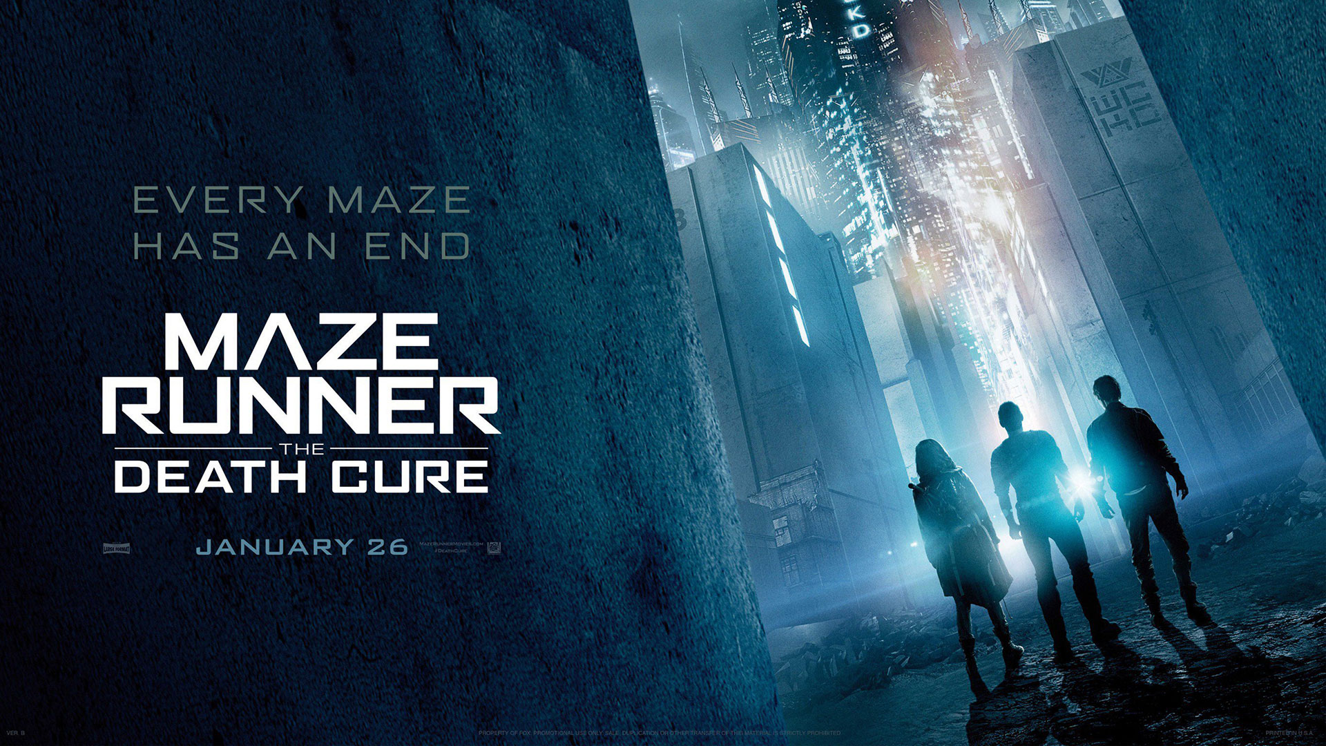 'Maze Runner: The Death Cure' - landscape artwork
