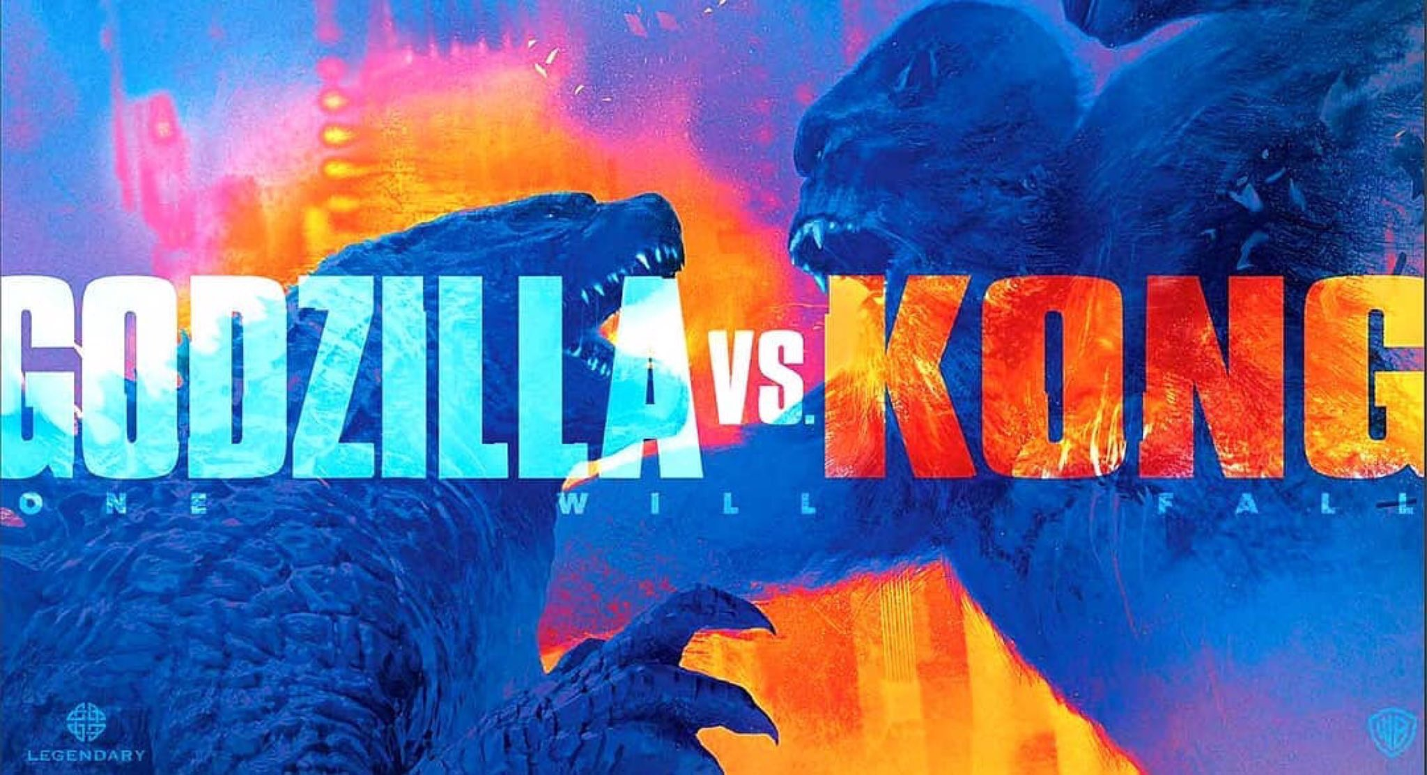 'Godzilla vs. Kong' - landscape artwork