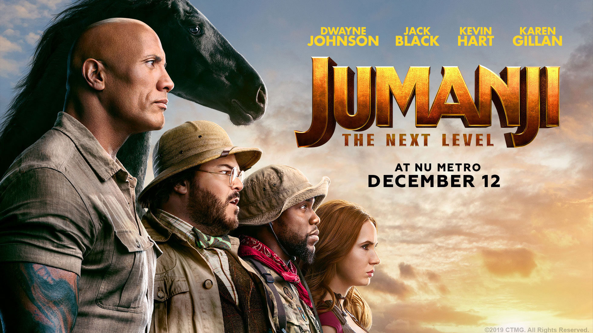 'Jumanji: The Next Level' - landscape artwork